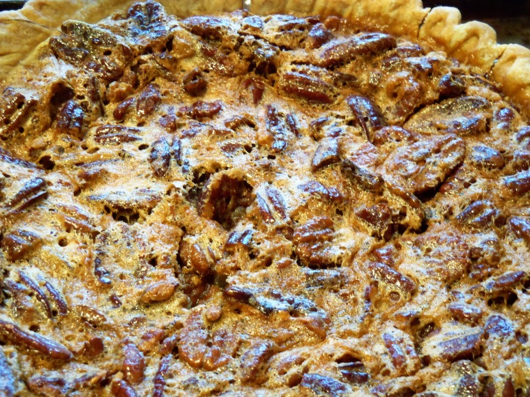 My pecan pie. It tastes better than it looks.
