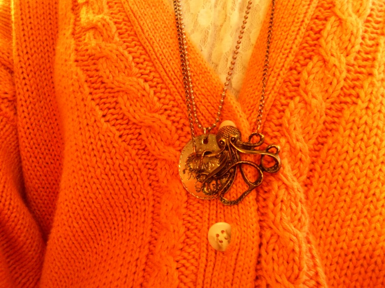 As you guys can probably tell, these are my favorite necklaces. That squid looks pretty attractive with that pendant.