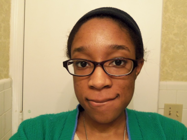my face with my new glasses