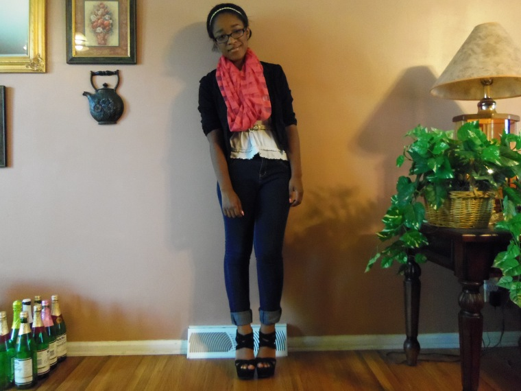Blazer: Last Kiss (Rainbow); Shoes: Charlotte Russe
