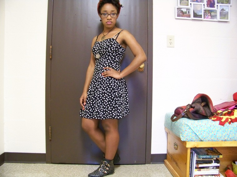Dress: Forever 21; Hat: Forever 21; Necklaces: Walmart and Etsy; Shoes: Charlotte Russe